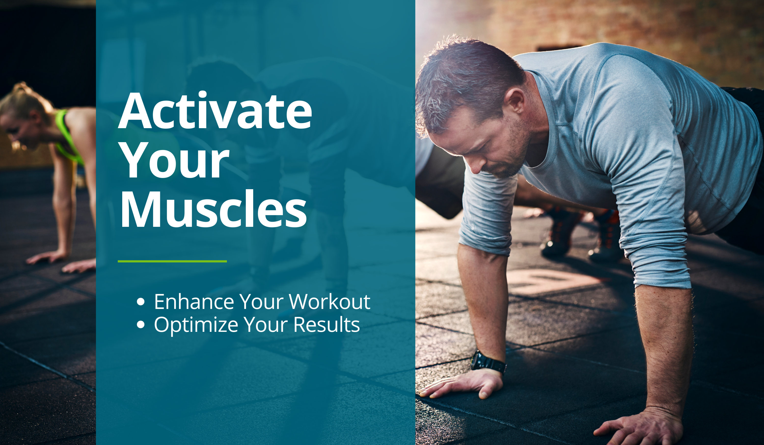Man demonstrates how to do a push up to activate your muscles before a workout.